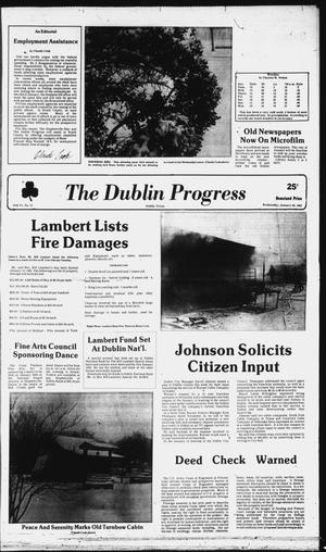 Primary view of object titled 'The Dublin Progress (Dublin, Tex.), Vol. 94, No. 23, Ed. 1 Wednesday, January 20, 1982'.