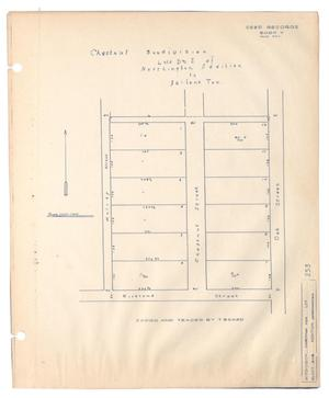 Primary view of object titled 'Chestnut Subdivision [of] Lots D & E of Northington Addition to Abilene, Texas'.