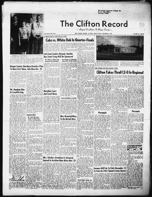 Primary view of object titled 'The Clifton Record (Clifton, Tex.), Vol. 66, No. 45, Ed. 1 Friday, December 2, 1960'.