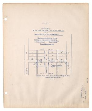 Primary view of object titled 'Map of a Lot 83 3/10 Feet By 503 5/10 Feet Out of the North End of Lot 2 Block 16 North Park Addition to the City of Abilene, Texas, as Subdivided by Albert Hohhertz. [#1]'.