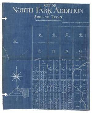 Primary view of object titled 'Map of North Park Addition to Abilene, Texas [#3]'.