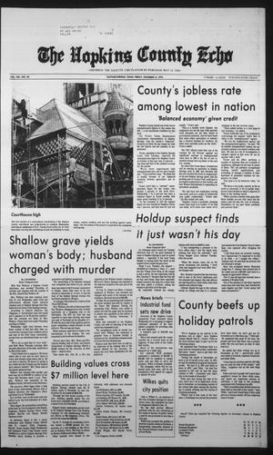 Primary view of object titled 'The Hopkins County Echo (Sulphur Springs, Tex.), Vol. 104, No. 50, Ed. 1 Friday, December 14, 1979'.