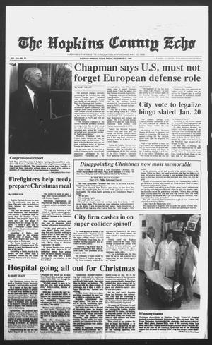 Primary view of object titled 'The Hopkins County Echo (Sulphur Springs, Tex.), Vol. 114, No. 51, Ed. 1 Friday, December 22, 1989'.