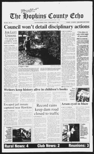Primary view of object titled 'The Hopkins County Echo (Sulphur Springs, Tex.), Vol. 202, No. 10, Ed. 1 Friday, March 7, 1997'.