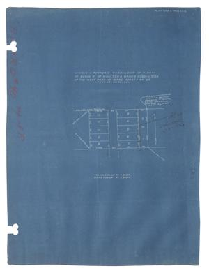 "Primary view of object titled 'Mingus & Renner's Subdivision of a Part of Block ""P"" of Moulton & Ward's Subdivision of the West Part of Ward Survey Number 90, Taylor County, Texas [#1]'."