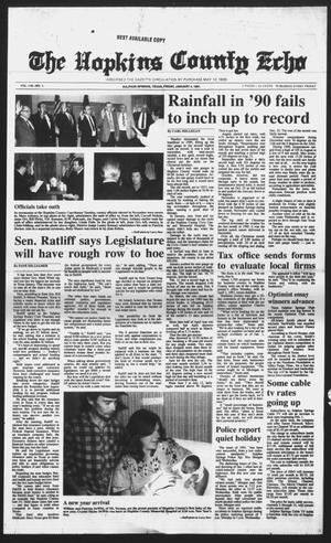 Primary view of object titled 'The Hopkins County Echo (Sulphur Springs, Tex.), Vol. 116, No. 1, Ed. 1 Friday, January 4, 1991'.