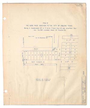 Primary view of object titled 'Map of the Susie Pace Addition to the city of Abilene, Texas [#2]'.