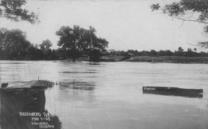 Primary view of [Brazos River at flood stage in 1908]