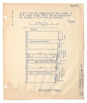 Alex J. Miller Subdivision of the North Two-Thirds of a 3.055 Acre Tract out of Survey Number 86, Block 14, Texas & Pacific Railroad Company Surveys [#4]