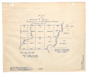 Primary view of object titled 'Map of the Anderson & Berrys Subdivision of the Alexander Thompson Survey Number 36'.