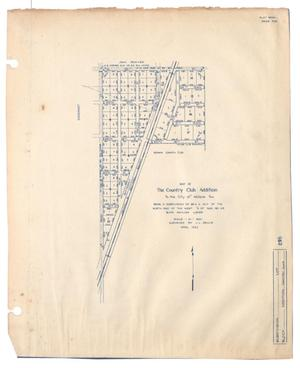 Primary view of object titled 'Map of The Country Club Addition to the City of Abilene, Texas'.