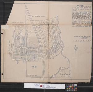 Map showing T. C. Campbell's Re-Plat of College Drive Addition to the City of Abilene, Taylor County, Texas