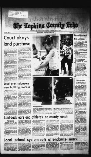 Primary view of object titled 'The Hopkins County Echo (Sulphur Springs, Tex.), Vol. 106, No. 24, Ed. 1 Friday, June 12, 1981'.