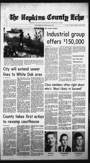 Primary view of object titled 'The Hopkins County Echo (Sulphur Springs, Tex.), Vol. 110, No. 21, Ed. 1 Friday, May 24, 1985'.