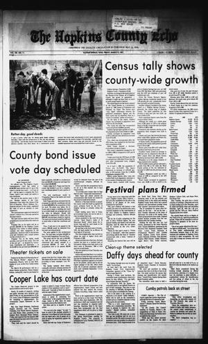 Primary view of object titled 'The Hopkins County Echo (Sulphur Springs, Tex.), Vol. 106, No. 11, Ed. 1 Friday, March 13, 1981'.