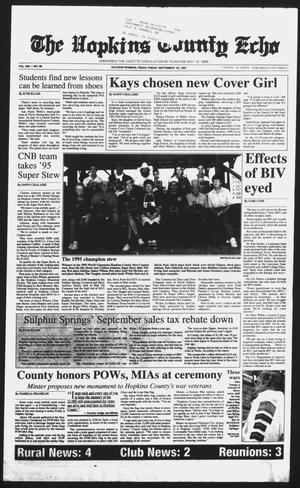 Primary view of object titled 'The Hopkins County Echo (Sulphur Springs, Tex.), Vol. 200, No. 38, Ed. 1 Friday, September 22, 1995'.