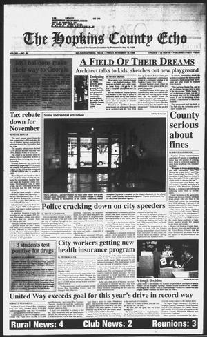 Primary view of object titled 'The Hopkins County Echo (Sulphur Springs, Tex.), Vol. 201, No. 46, Ed. 1 Friday, November 15, 1996'.