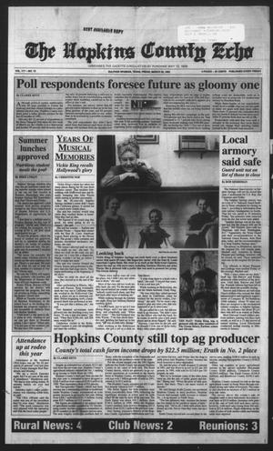 Primary view of object titled 'The Hopkins County Echo (Sulphur Springs, Tex.), Vol. 117, No. 12, Ed. 1 Friday, March 20, 1992'.
