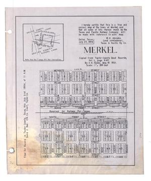 Primary view of object titled 'Merkel.'.