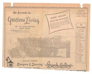 Primary view of object titled '[Map of Brook Hollow Subdivision]'.