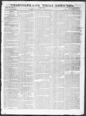 Primary view of object titled 'Telegraph and Texas Register (Houston, Tex.), Vol. 9, No. 9, Ed. 1, Wednesday, February 14, 1844'.