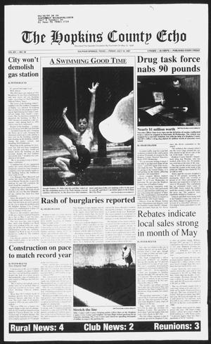 Primary view of object titled 'The Hopkins County Echo (Sulphur Springs, Tex.), Vol. 201, No. 28, Ed. 1 Friday, July 18, 1997'.