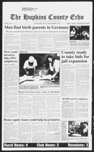 Primary view of object titled 'The Hopkins County Echo (Sulphur Springs, Tex.), Vol. 202, No. 47, Ed. 1 Friday, November 21, 1997'.