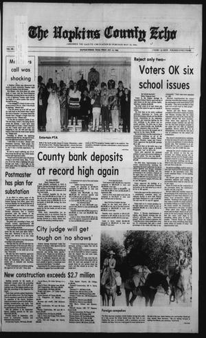 Primary view of object titled 'The Hopkins County Echo (Sulphur Springs, Tex.), Vol. 108, No. 41, Ed. 1 Friday, October 14, 1983'.