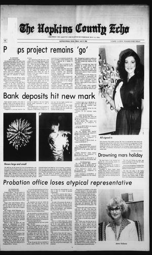 Primary view of object titled 'The Hopkins County Echo (Sulphur Springs, Tex.), Vol. 107, No. 28, Ed. 1 Friday, July 9, 1982'.