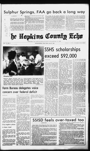 Primary view of object titled 'The Hopkins County Echo (Sulphur Springs, Tex.), Vol. 112, No. 21, Ed. 1 Friday, May 22, 1987'.