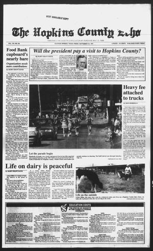 Primary view of object titled 'The Hopkins County Echo (Sulphur Springs, Tex.), Vol. 116, No. 38, Ed. 1 Friday, September 20, 1991'.