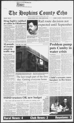 Primary view of object titled 'The Hopkins County Echo (Sulphur Springs, Tex.), Vol. 205, No. 30, Ed. 1 Friday, August 25, 2000'.
