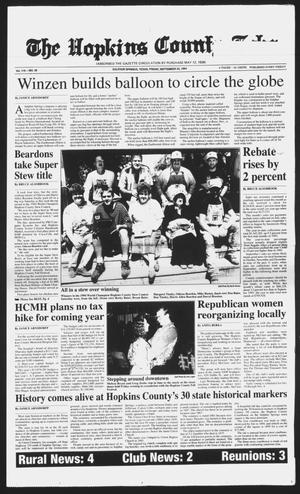 Primary view of The Hopkins County Echo (Sulphur Springs, Tex.), Vol. 119, No. 38, Ed. 1 Friday, September 23, 1994