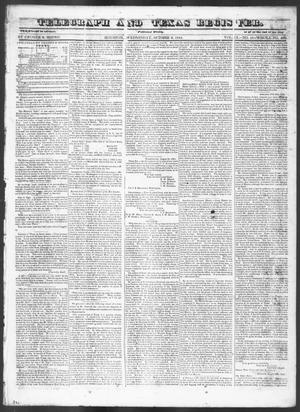 Primary view of Telegraph and Texas Register (Houston, Tex.), Vol. 9, No. 41, Ed. 1, Wednesday, October 2, 1844