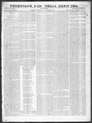 Primary view of Telegraph and Texas Register (Houston, Tex.), Vol. 9, No. 45, Ed. 1, Wednesday, November 6, 1844