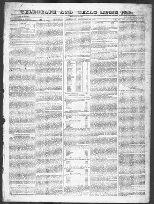 Primary view of object titled 'Telegraph and Texas Register (Houston, Tex.), Vol. 9, No. 47, Ed. 1, Wednesday, November 20, 1844'.