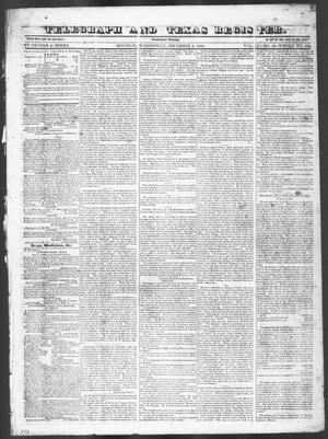 Primary view of object titled 'Telegraph and Texas Register (Houston, Tex.), Vol. 9, No. 49, Ed. 1, Wednesday, December 4, 1844'.
