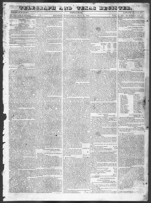 Telegraph and Texas Register (Houston, Tex.), Vol. 10, No. 20, Ed. 1, Wednesday, May 14, 1845