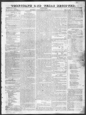 Primary view of object titled 'Telegraph and Texas Register (Houston, Tex.), Vol. 10, No. 28, Ed. 1, Wednesday, July 9, 1845'.
