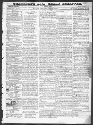 Primary view of object titled 'Telegraph and Texas Register (Houston, Tex.), Vol. 10, No. 33, Ed. 1, Wednesday, August 13, 1845'.