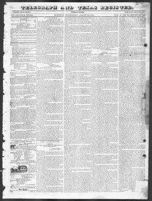 Primary view of Telegraph and Texas Register (Houston, Tex.), Vol. 10, No. 34, Ed. 1, Wednesday, August 20, 1845