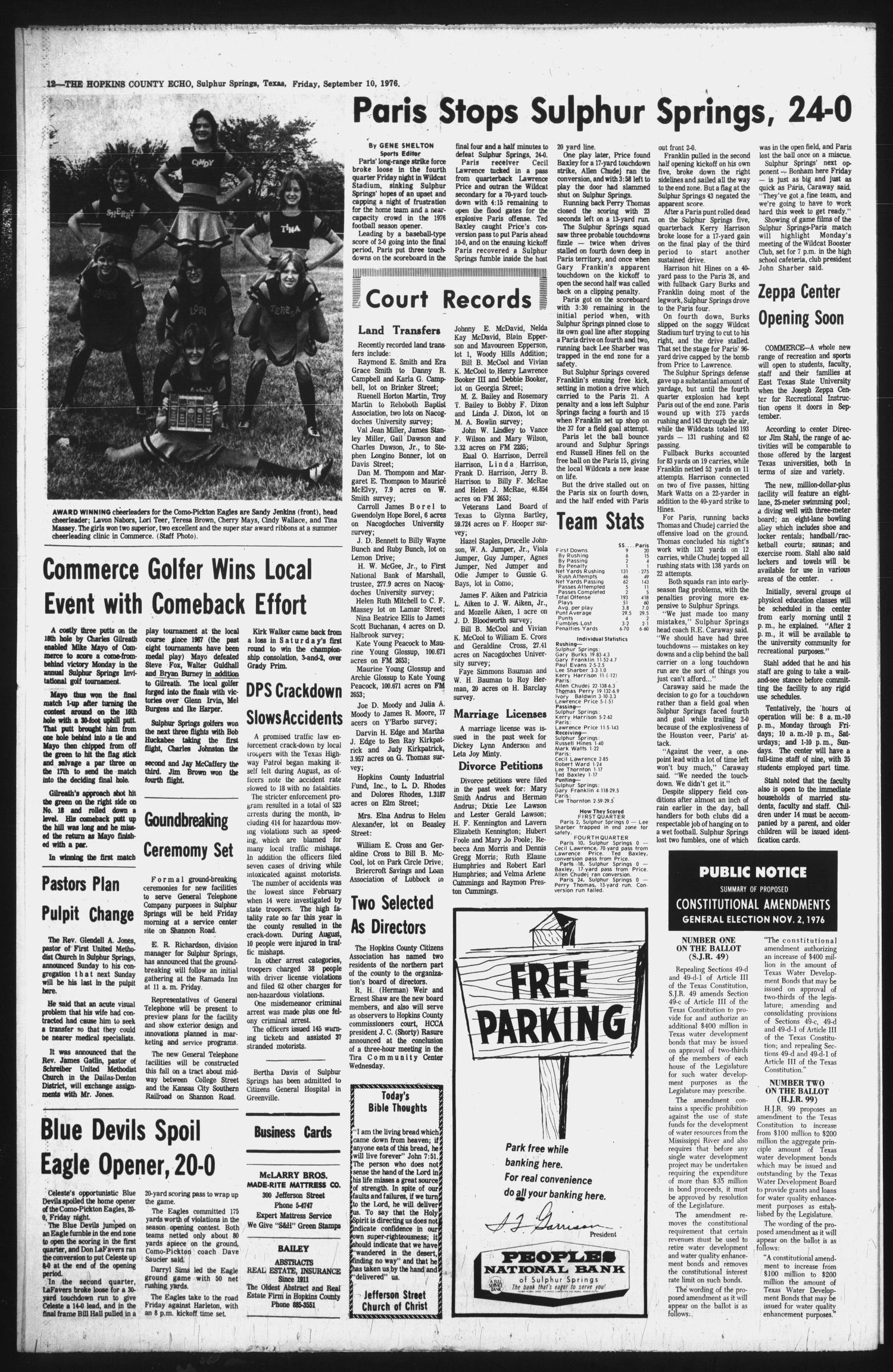 The Hopkins County Echo (Sulphur Springs, Tex ), Vol  101