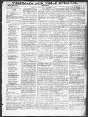 Primary view of object titled 'Telegraph and Texas Register (Houston, Tex.), Vol. 10, No. 40, Ed. 1, Wednesday, October 1, 1845'.