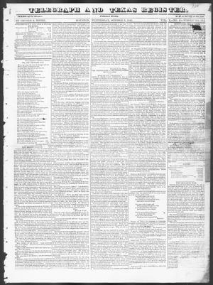 Primary view of Telegraph and Texas Register (Houston, Tex.), Vol. 10, No. 41, Ed. 1, Wednesday, October 8, 1845