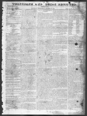 Telegraph and Texas Register. (Houston, Tex.), Vol. 10, No. 44, Ed. 1, Wednesday, October 29, 1845