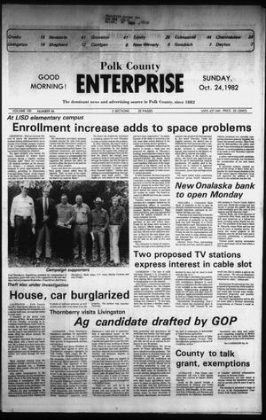 Primary view of object titled 'Polk County Enterprise (Livingston, Tex.), Vol. 100, No. 86, Ed. 1 Sunday, October 24, 1982'.