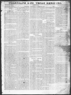 Primary view of object titled 'Telegraph and Texas Register (Houston, Tex.), Vol. 10, No. 48, Ed. 1, Wednesday, November 26, 1845'.