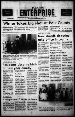 Primary view of object titled 'Polk County Enterprise (Livingston, Tex.), Vol. 95, No. 1, Ed. 1 Sunday, January 2, 1977'.