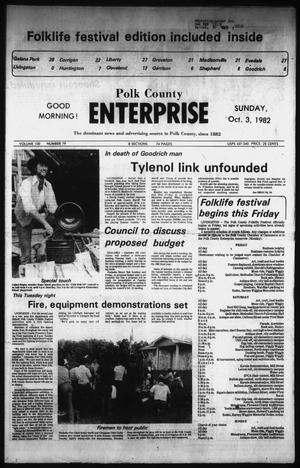 Primary view of object titled 'Polk County Enterprise (Livingston, Tex.), Vol. 100, No. 79, Ed. 1 Sunday, October 3, 1982'.