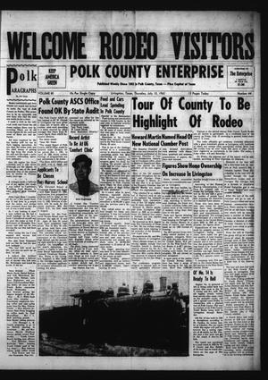 Primary view of object titled 'Polk County Enterprise (Livingston, Tex.), Vol. 80, No. 44, Ed. 1 Thursday, July 12, 1962'.